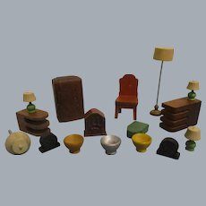 Vintage Lot of Strombecker Doll House Furniture Accessories