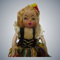 Vintage 1940s Tiny Town Doll