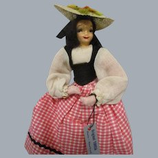 Vintage 1940s Ravca Doll All Original with Tag