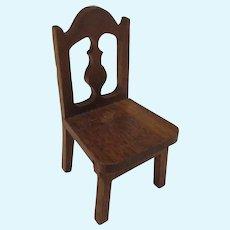 Vintage Strombecker Wooden Chair Marked