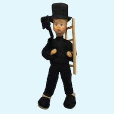 "Vintage Erna Meyer Character ""Chimney Sweep"" Dollhouse Boy Doll"