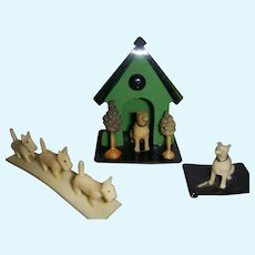 Vintage Miniature Celluloid Dogs - Lot of 3 Novelty Dogs