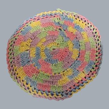 Vintage Miniature Crocheted Braided Dollhouse Rug