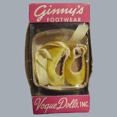 Vintage Vogue 1950s Ginny Satin Slippers in Original Box