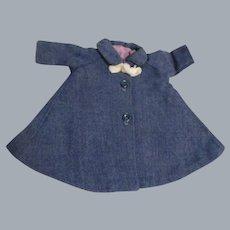 Vintage Madame Alexander Cissette Blue Tagged Coat