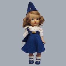 """Vintage 1950s Original Nancy Ann Storybook Muffie """"Airline Stewardess"""" Doll"""