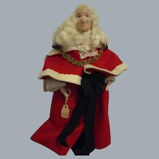 """Vintage Liberty of London """"Lord Chief Justice"""" Doll All Original with Tag"""
