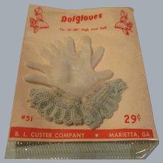 Vintage HTF 1950's MIP Pair of Cissy Blue Gloves