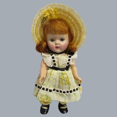 "Vogue 1953 Strung Ginny ""Wanda"" Doll All Original"