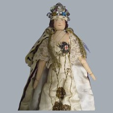 """Vintage Liberty of London """"Queen Elizabeth"""" Doll All Original with Tag"""