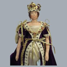 """Vintage Liberty of London """"Queen Elizabeth II"""" Doll All Original with Tags"""