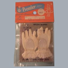 Vintage HTF 1950's MIP Pair of Cissy White Gloves