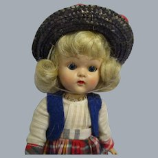 """Vogue 1954 Painted Lash Walker Ginny Doll """"My Tiny Miss"""" All Original"""