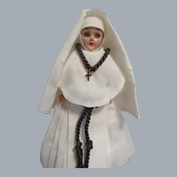 "Vintage 1950s 7 1/2"" Nun In Original Dominican Habit"