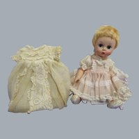 """Vintage 1950s Madame Alexander """"Little Genius"""" Doll in Original Tagged Outfit"""