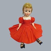 Vintage 1957 Madame Alexander Cissette Doll in Original Tagged Dress