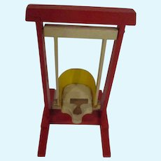 Vintage Dollhouse Miniature Baby Swing Wooden