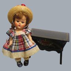 HTF Vintage Black Lacquered Wood Doll Dough Box
