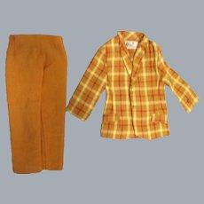 """Vintage Mattel Ken 1970 """"Bold Gold"""" Jacket & Slacks"""