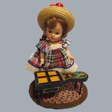 HTF Vintage Black Lacquered Cobbler's Bench Doll Furniture