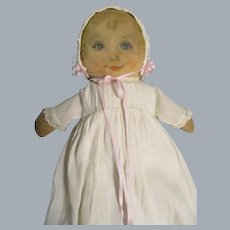 """Vintage 1930s Cloth Maud Tousey Fangel Doll """"Sweets"""""""