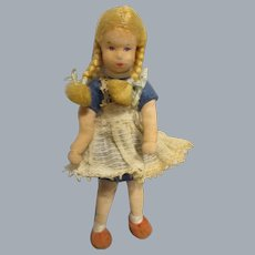 Vintage German Erna Meyer Girl Dollhouse Doll