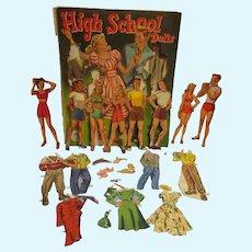 "1948 Vintage ""High School Dolls Book"" Paper Doll Set"