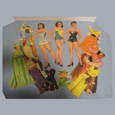 "1955 Vintage ""Jane Russell"" Paper Doll Set"
