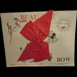 Vintage Doll Hair Bow in Original Package