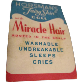 Vintage Original Horsman Doll Tag with Curlers