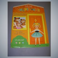 """Goldilocks"" Paper Dolls Uncut 1966!"