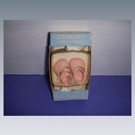 Vintage Vogue 1950s Ginnette Shoes and Socks in Original Box!