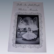 "Vintage Original Madame Alexander ""Dolls Are Little People"" Booklet!"