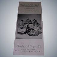 """Vintage Original Madame Alexander """"Dolls Are Little People"""" Booklet!"""
