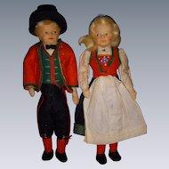 Vintage Pair Ronnaug Petterssen Dolls All Original!