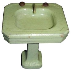 Vintage Green Wooden Bathroom Sink! - Red Tag Sale Item
