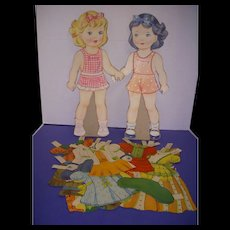 """Vintage Paper Doll Set """"Mary & Judy"""" Paper Dolls!"""