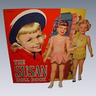 "1950 Vintage ""The Susan Doll Book"" Paper Doll Set !"