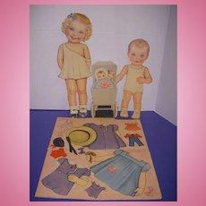 """1943 Vintage Queen Holden """"Dress Me"""" Paper Doll Set !"""