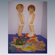 "1928 Vintage ""Joan & Bobby"" Paper Doll Set!"