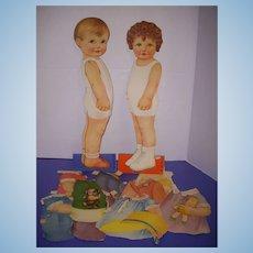 """1928 Vintage """"Joan & Bobby"""" Paper Doll Set!"""