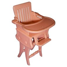 Vintage Ideal Miniature Doll High Chair/Rocker with Tray! - Red Tag Sale Item