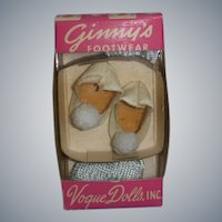 Vintage Vogue 1950s Ginny Slippers and Socks in Original Box!