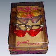 Vintage 1950s Boxed Set of 4 Vogue Ginny Glasses!