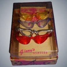 Vintage 1950s Boxed Set of 4 Vogue Ginny Glasses!