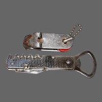 2 Vintage Multi-Purpose Bottle-Can Opener-Cork Screw