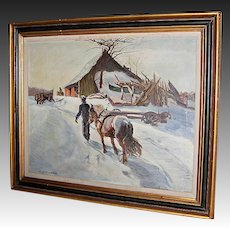 W. Lester Stevens Oil on Canvas