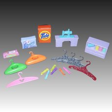 Barbie Doll Size Laundry Day/Sewing Accessories