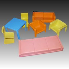 Seven Piece ©1973 Mattel Barbie Townhouse Furniture