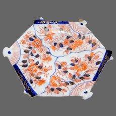 Japanese Meiji Koransha IMARI Hexagonal Dish